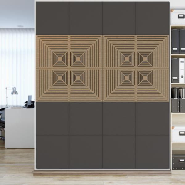Akustická designová stěna