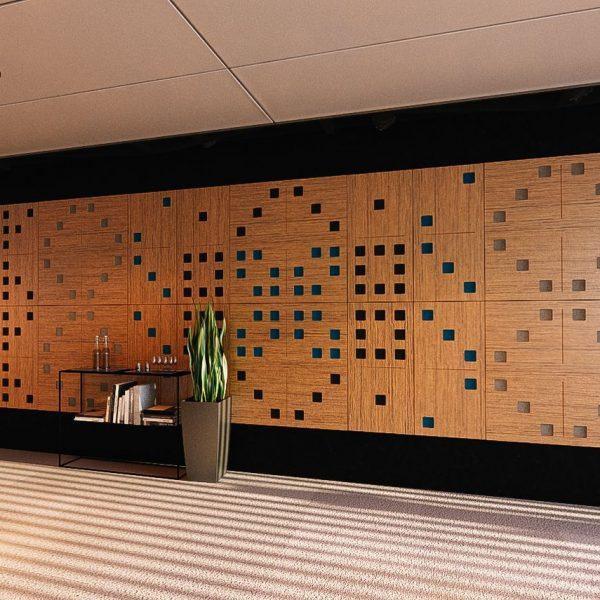 Dizajnová akustická stena