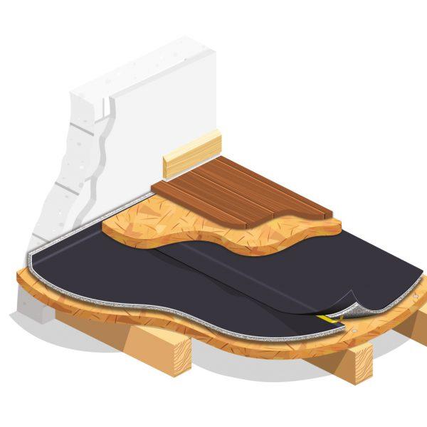 Kročejová izolace pod OSB desku