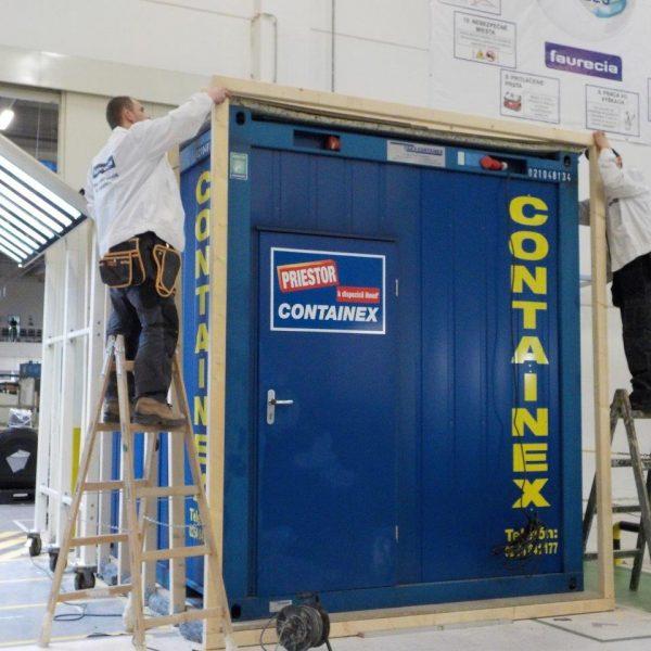 Odhlučňování kontejneru