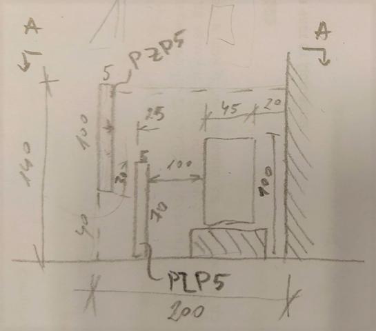 Skica konstrukce odhlučnění