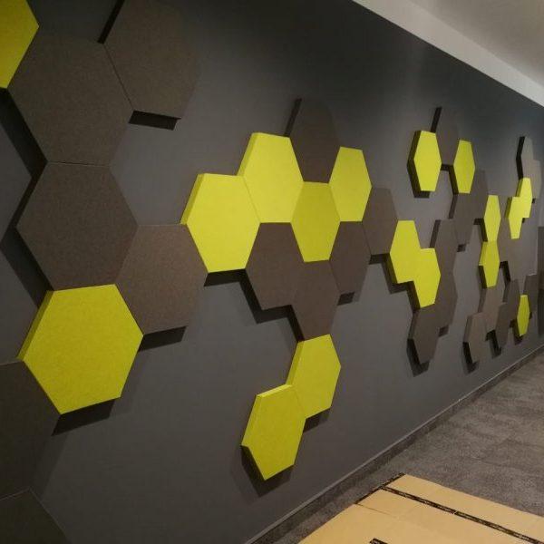 Designový látkový akustický panel