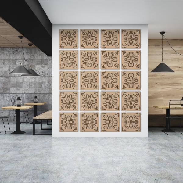 Akustická dřevěná stěna