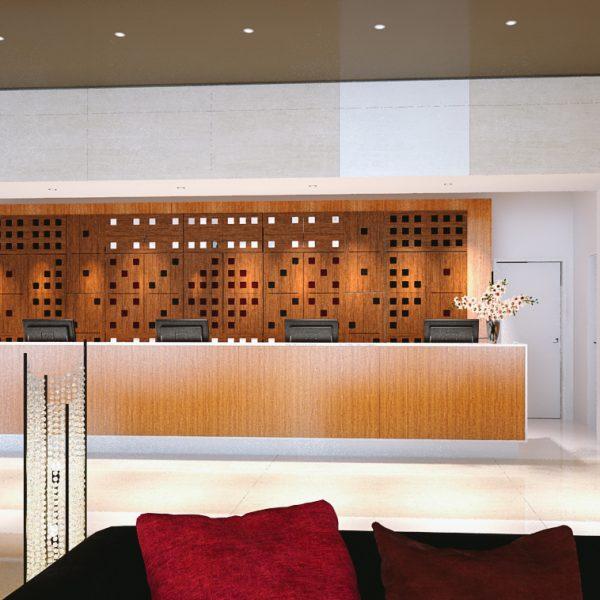 Akustický panel hotelový pokoj