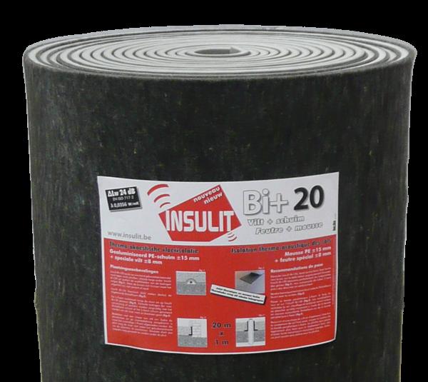 Kročejová izolace Insulit Bi+20 s tepelně izolační vrstvou